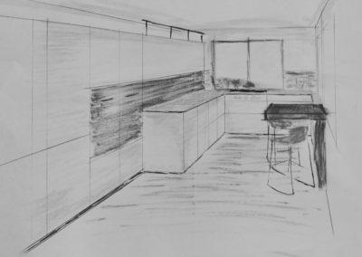 Skizze Küchenentwurf Manufaktur Hunger