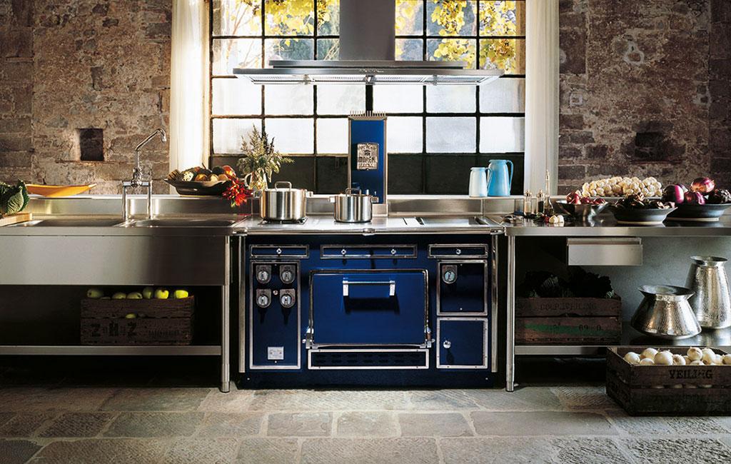 Molteni Kochherd P145 Blau bei Manufaktur Hunger